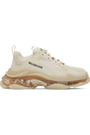 Balenciaga Men Sneakers - Beige Clear Sole Triple S Sneakers