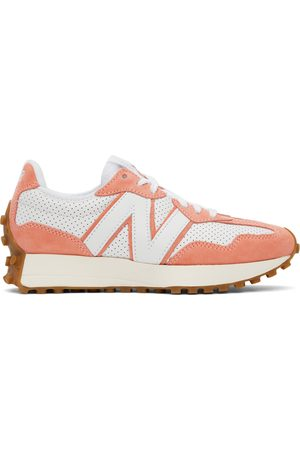 New Balance Women Sneakers - White & Pink 327 Sneakers
