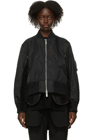 SACAI Women Fleece Jackets - Twill Mix Blouson Jacket