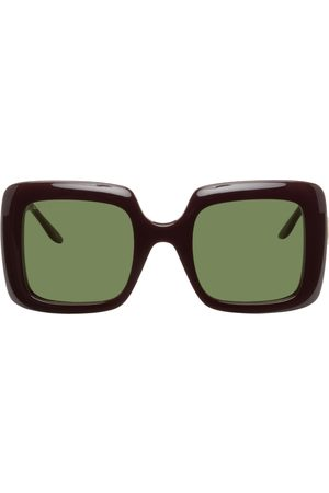 Gucci Burgundy Square Sunglasses