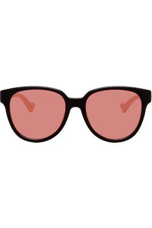 Gucci Women Square - Black & Off-White Square Sunglasses