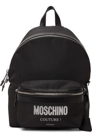 Moschino Men Luggage - Black Canvas 'Couture' Backpack