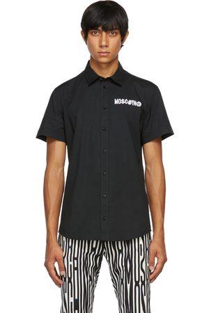 Moschino Men Short sleeves - Black Symbols Logo Short Sleeve Shirt