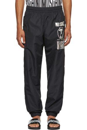 Moschino Men Sweatpants - Black Warped Glitch Logo Track Pants