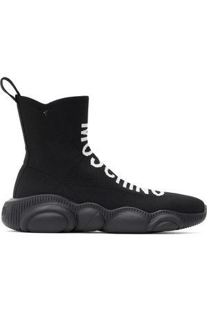Moschino Women Sneakers - Black Teddy Sock Sneakers