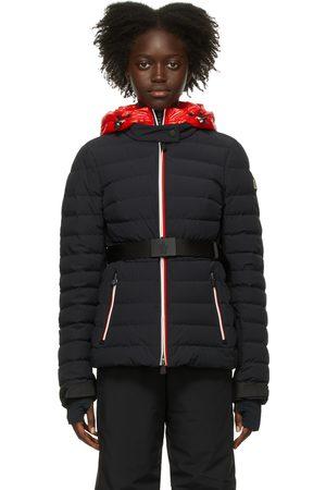 Moncler Women Puffer Jackets - Black Down Bruche Puffer Jacket