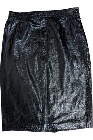 VALENTINO GARAVANI Patent leather mid-length skirt