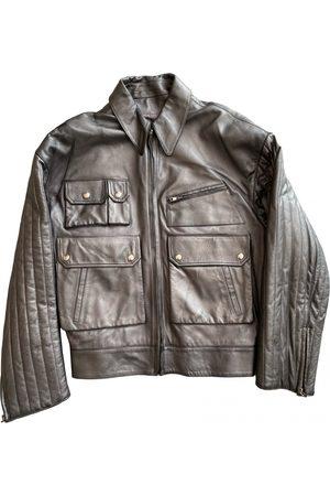 CLAUDE MONTANA Leather jacket