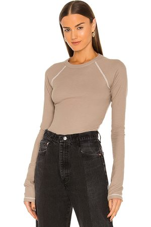 The Line By K Albie Top in Neutral.