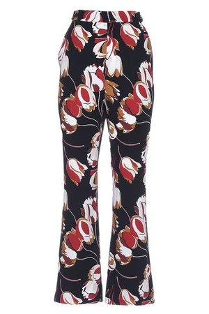 Marni Women Wide Leg Pants - Floral Print Trousers