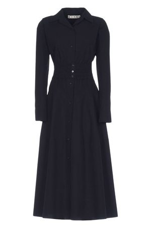 Marni Belted Long Sleeve Dress