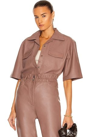 REMAIN Jocy Leather Shirt in Tan