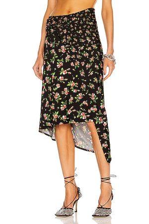 Paco rabanne Asymmetric Floral Skirt in