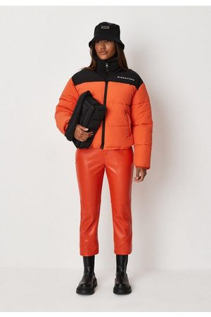 Missguided Colorblock Puffer Coat