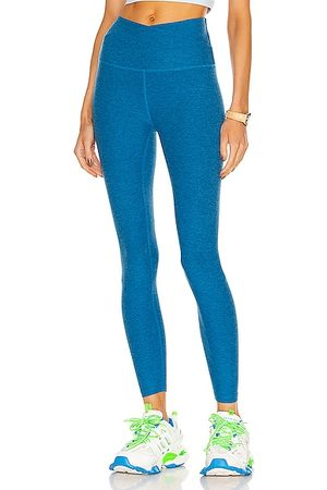 Beyond Yoga At Your Leisure High Waisted Midi Legging in Blue