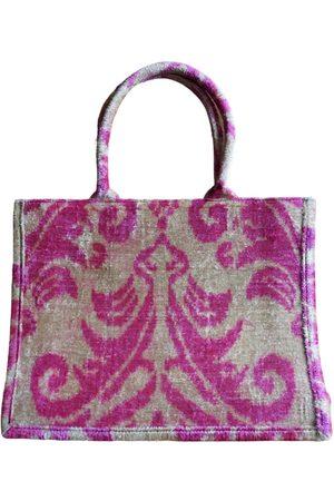 Women Luggage - Artisanal Velvet Silk Ikat Tote PUNICA