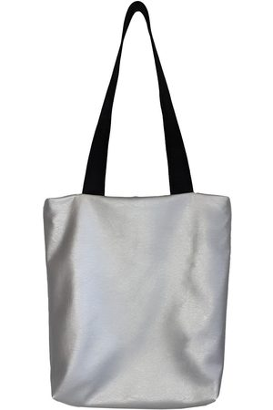 Silver Leather ette Tote Bag In CG Loves