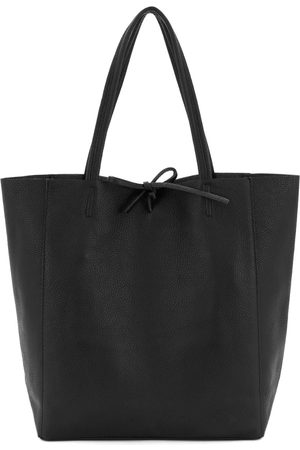 Women Luggage - Vegan Black Leather Soft Tote Small Sostter