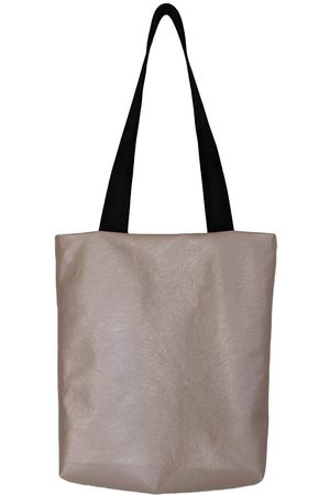 Natural Leather ette Tote Bag In Metallic Nude CG Loves