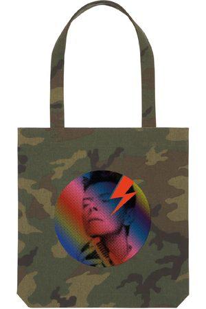 Women Luggage - Artisanal Green Cotton Tote Bag Camo Bowie maxjenny