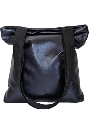 Women Luggage - Navy Leather ette Tote Bag In Metallic CG Loves