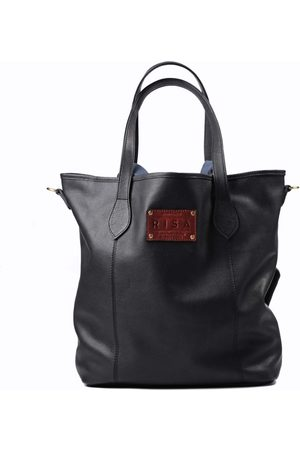 Artisanal Black Leather Marie Tote RISA VANCOUVER