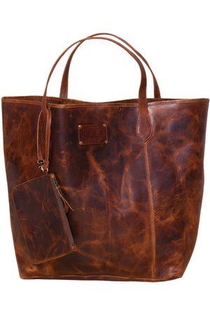 Artisanal Leather Rachel Tote Bag (Oil Brown) RISA VANCOUVER