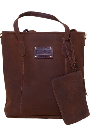 Women Purses - Artisanal Leather Marie Tote (Coffee Brown) RISA VANCOUVER