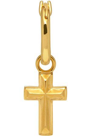 Men's Gold Angular Cross Hoop Earring In Northskull