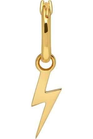 Men Hoop - Men's Gold Lightning Bolt Hoop Earring In Northskull