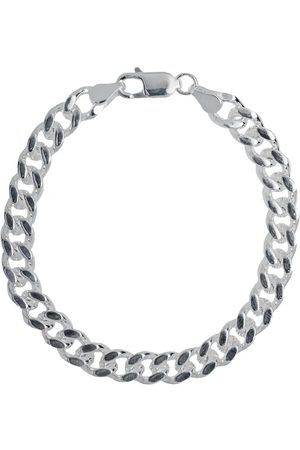 Only Mens Curb Bracelet A Wide Flat Link Heavyweight Chain