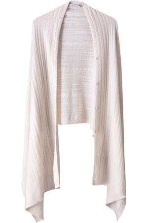 Women's Carbon Neutral Natural Wool Luna Travel Cashmere Wrap Voya
