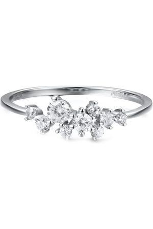 Azura Jewelry Women Rings - Glitter Raindrop White Gold Ring