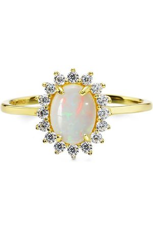 Azura Jewelry Australian Opal Daisy Ring