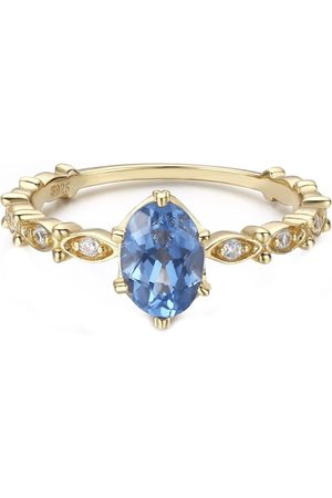 Azura Jewelry Women Rings - Dance With The Wave Blue Topaz Ring