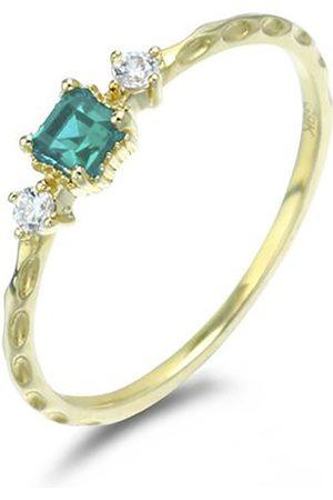 Azura Jewelry Women Rings - Emerald Unitiy Ring