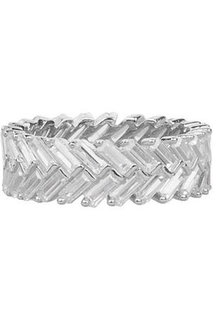 Women Rings - Women's Artisanal Silver Snowflake Pavé Set Ring AVILIO London