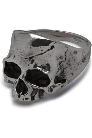 NORTHSKULL Disfigured Medius Skull Ring in Gunmetal
