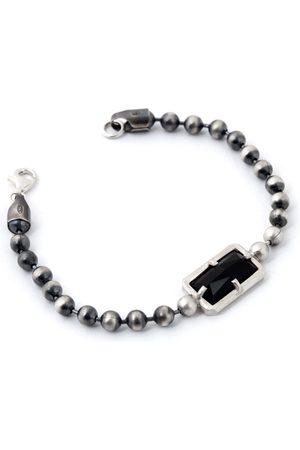 Men Bracelets - Artisanal Black Onyx Bracelet For Men, Onyx Chain Bracelet For Men Tomerm Jewelry