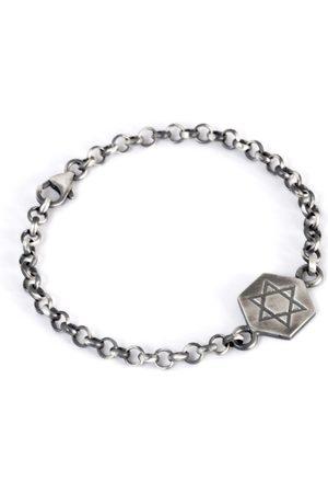 Men's Artisanal Silver Star Of David Bracelet Tomerm Jewelry