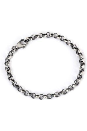 Men Bracelets - Men's Artisanal Silver Boyfriend Bracelet Round Link 925 Chain Bracelet Tomerm Jewelry