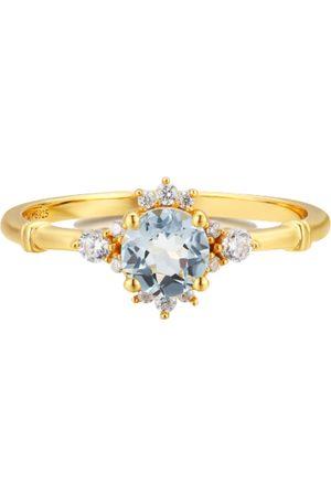Azura Women Rings - Ocean Rim Aquamarine Ring