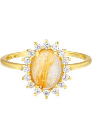 Azura Women Rings - Daisy Golden Rutile Ring