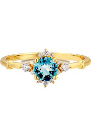 Azura Ocean Rim London Blue Topaz Ring