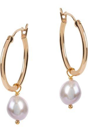 Amadéus Venus Gold Hoop Earrings - Pearl Pendant