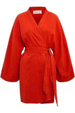 Women Kimonos - Women's Artisanal Cotton Alice Crinkle Kimono Chillax