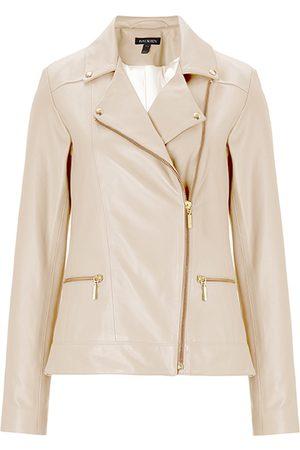 Women's Organic Natural Leather Kara Jacket Stone XXL Baukjen