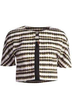 Women Boleros - Women's Artisanal Brown Fabric Short Sleeve Bolero Jacket XS Conquista