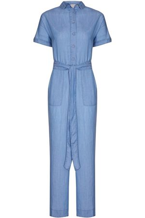 Women's Blue Nancy Jumpsuit - Tencel Denim Large NOOKI DESIGN