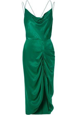 Women's Green Silk Ava Emerald Dress Large Aggi